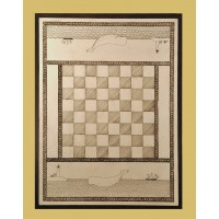 Primitive Wooden checkers/chess Game Board - 048