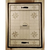 Primitive Wooden Parcheesi Game Board - 050