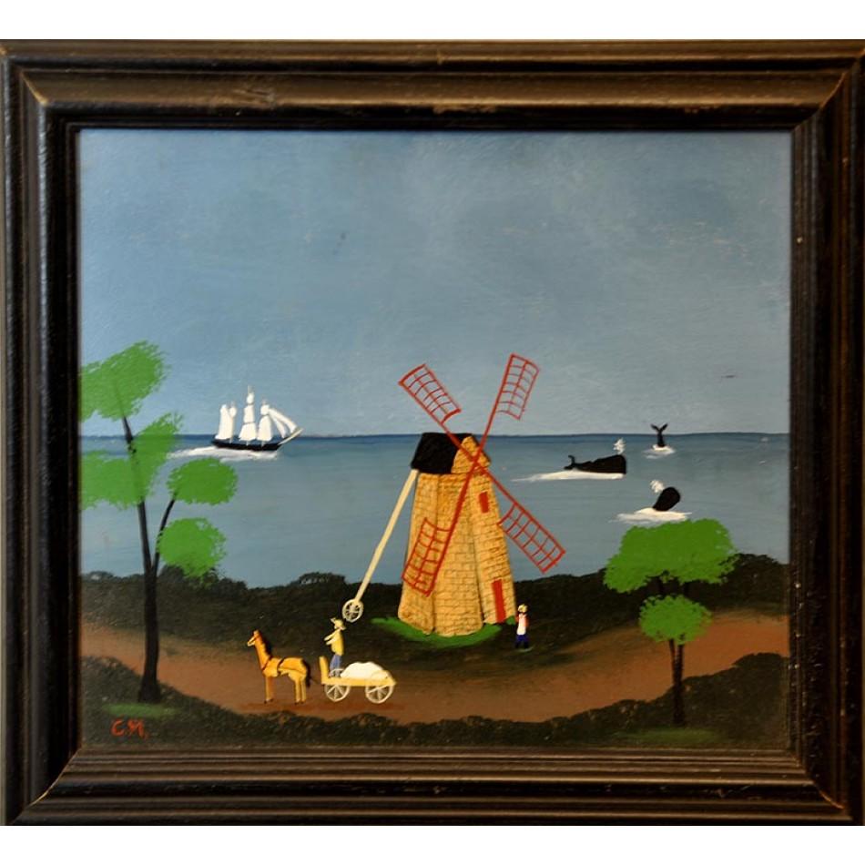 Cape cod wind mill for Abri mural cape cod